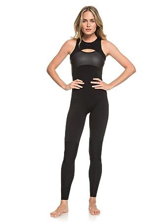 Amazon.com : Roxy Womens 1.5 Satin Long John B-lck Black ...