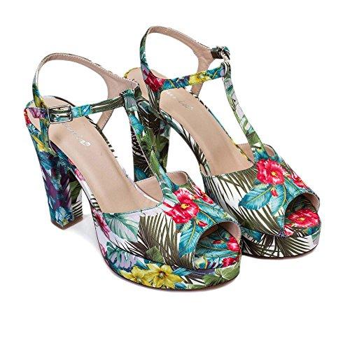 Multicolore Gennia Gennia Sandales Sandales Femme Pour wwX17Z0q