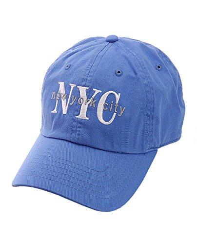 (NYFASHION101 Unisex NYC New York City Embroidered Adjustable Low Profile Cap, NY02, Sky Blue)