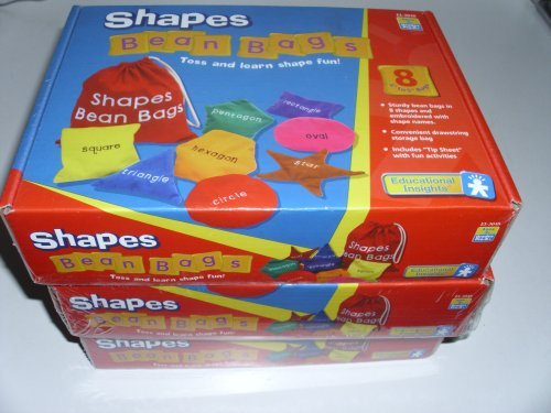 EDUCATIONAL INSIGHTS SHAPES BEAN BAGS (Set of 3) (Educational Insights Bean Bags)