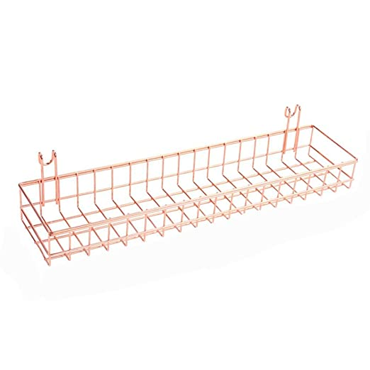 Estante de almacenamiento de alambre para art/ículos para el hogar Cesta de rejilla Cesta de pared de alambre con gancho Organizador de montaje en pared para panel de rejilla Decoraci/ón de pared
