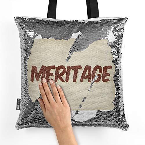 (NEONBLOND Mermaid Tote Handbag Meritage Wine, Vintage style Reversible)