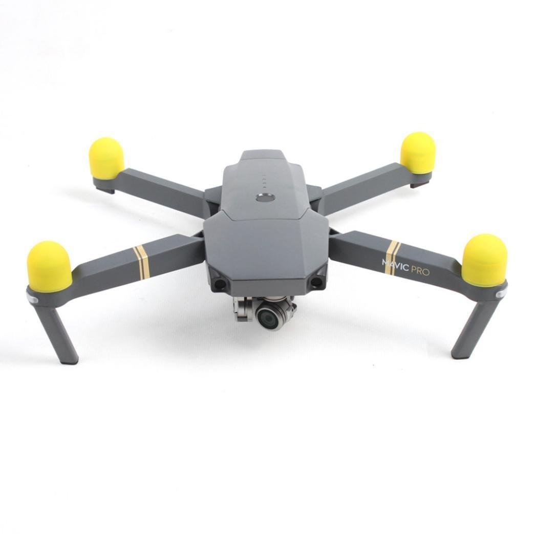putars 4pcsシリカゲルモーター保護カバーアクセサリーfor DJI Mavic Pro Drone、防塵、damp-proof、bump-proof ) B0773JNJFW イエロー イエロー