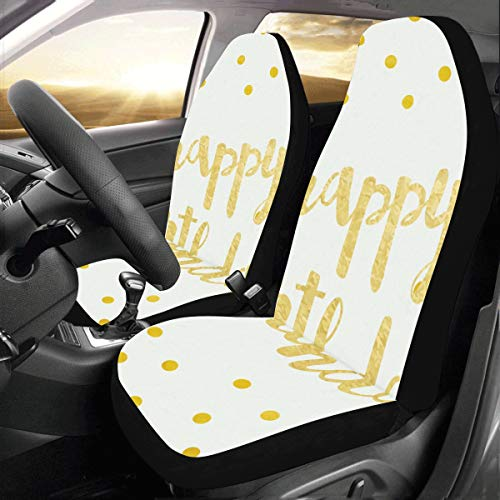 d6d0aed7 Happy Birthday Anniversary Custom New Universal Fit Auto Drive Car Seat  Covers Protector For Women Automobile