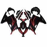Red with Flat Black Complete Fairing Bodywork Painted ABS plastic Injection Molding Kit for 2013-2015 13-15 Kawasaki Ninja 300 EX300R EX 300R EX-300R EX300A EX300B SE 2014