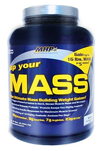 MHP Up Your Mass Weight Gainer - Vanilla 5 lb by Tropicana Health and Fitness