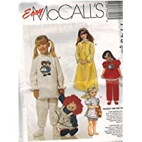 7749 McCalls Sewing Pattern UNCUT Girls Raggedy Ann Nightgown Pajamas  Multicolor Transfer Size Large 10 12 6a41fbcde