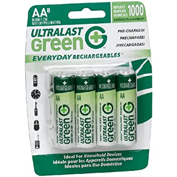 Amazon.com: UltraLast Green Everyday Precharged NiMH AA