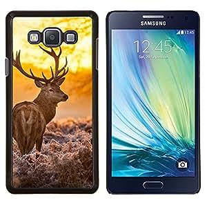 LECELL--Funda protectora / Cubierta / Piel For Samsung Galaxy A7 A7000 -- Resplandeciente ciervos --