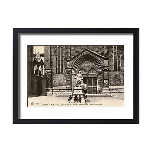 Framed 24x18 Print of Statue of Paolo Veronese - Chiesa di Sant Anastasia, Verona (14410013) (Renaissance Bracket Wall Collection)