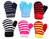 Baby Infant Magic Acrylic Insulated Mittens Size 12-18M 6 - Pack