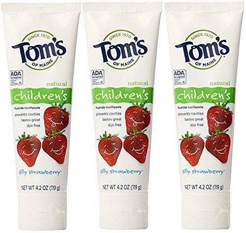 Tom's of Maine Anticavity Fluoride Toothpaste, Silly Strawberry, EXP 9/18