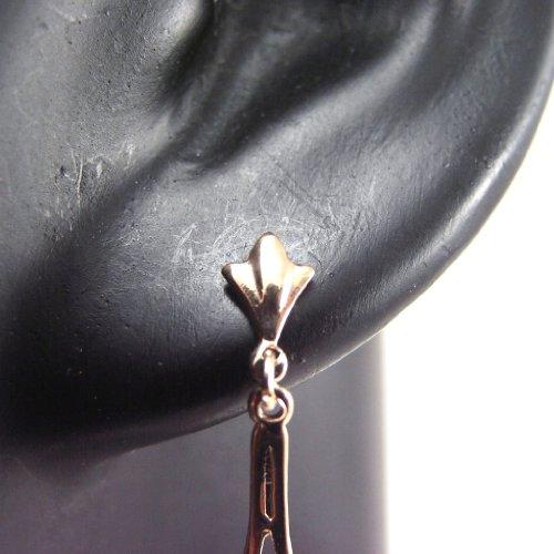 Les Trésors De Lily [F1321] - Boucles Plaqué Or 'Vinci' Blanc