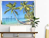 Window Mural Beach Of Thailand window sticker window film window tattoo glass sticker window art window décor window decoration Size: 56.7 x 75.6 inches