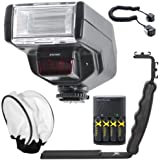 Digital Dedicated TTL 130C Flash Kit for Canon Digital EOS Rebel SL1, T1i, T2i, T3, T3i, T4i, T5, T5i EOS 60D, EOS 70D, 50D, 40D, 30D, EOS 5D, EOS 5D Mark III, EOS 6D, EOS 7D, EOS 7D Mark II, EOS-M Digital SLR Cameras