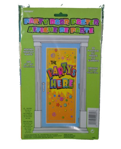 happy birthday door poster