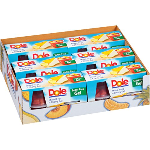 Dole Fruit Bowls, Mixed Fruit in Cherry Gel, 4.3 Ounce, 4 Cups (Pack of ()