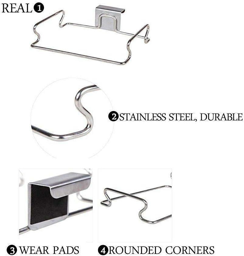 Stainless Steel 2 Easyinsmile Trash Bag Holder Portable Hanging Organizer Trash Rack 2pcs//Pack