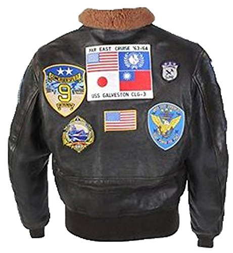 PRLWRS Men Celebrity Movies Fine Quality Costumes Jacket Trench Coats Outfits (XL, Dark Brown - Top Gun - Womens Jacket Gun Costume Top