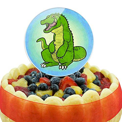 Happy Alligator Cake Top Topper