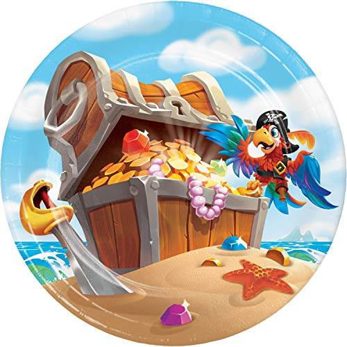 Treasure Island Pirate Dessert Plates, 8 ct -