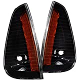 Spec-D Tuning Black Housing Clear Lens Corner Lights for 2006-2010 Dodge Charger Parking Signal Lamps Assembly Left + Right Pair