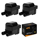 QYL Ignition Coil Set of 3 for Dodge Stealth Mitsubishi 3000GT Diamante Eclipse Galant Montero Eagle Talon Rover Defender Land Rover V6 V8 L4 UF143