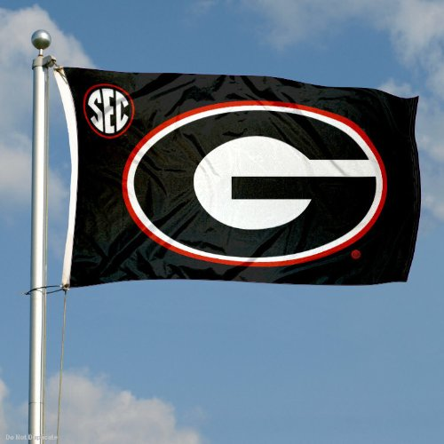 College Flags and Banners Co Georgia UGA Bulldogs SEC 3x5 Flag