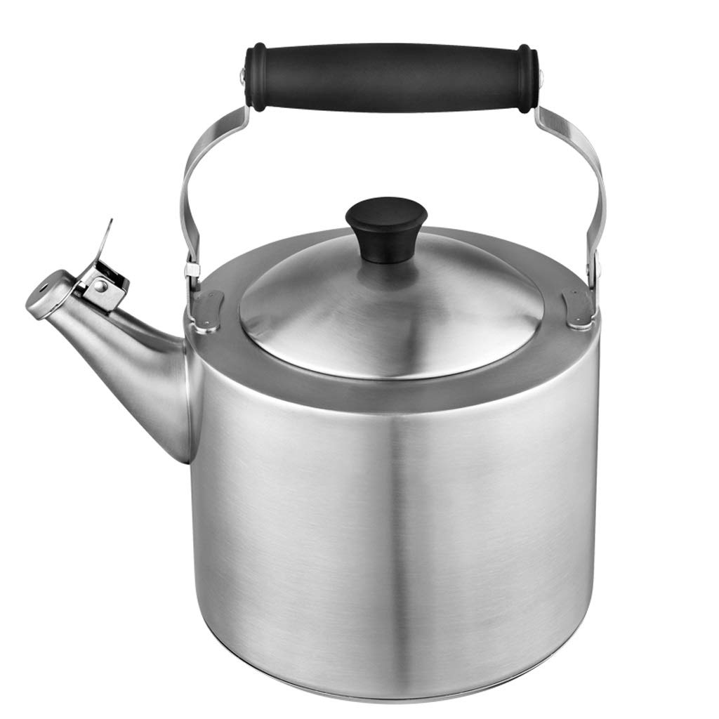 Stainless Steel Stove Top Kettle,304 Stainless Steel Thick Whistle Kettle, Gas Cooker Home (Size : 3.5L)