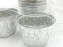 Disposable Aluminum 7 oz. Baking Cups/Cake Cups/Dessert Cups #1210P (100)
