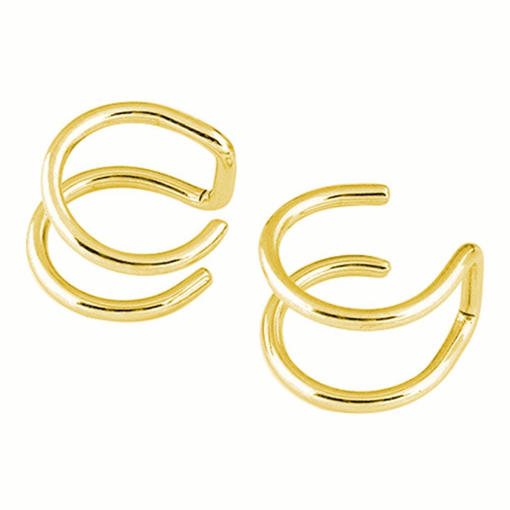 Ameesi Men's Women's Clip-on Earrings Non-piercing Ear Cartilage Cuff Eardrop Ear Clip - Silver