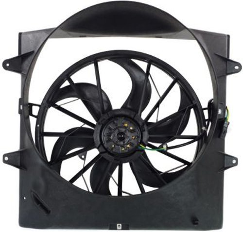 Dual Radiator and Condenser Fan Assembly - Cooling Direct For/Fit CH3115110 99-03 Jeep Grand Cherokee 4.0L 99-00 4.7L WITHOUT Towing Package WITH Shroud