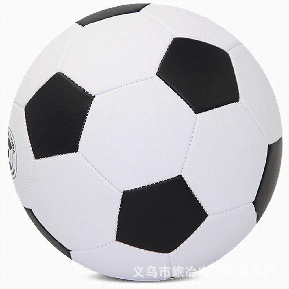 C.N. La compétition de Formation pour Enfants et Adolescents de Football Porte des écoliers de Football en Cuir Souple,Noir Blanc,1