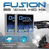 Optix 35W HID Xenon Headlight Conversion Kit Slim Digital Ballast - 1 pair - H4 9003 HB2 - 8K 8000k Iceberg Blue