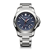 Victorinox Swiss Army Men's 241724.1 I.N.O.X. Watch with Blue Dial and Stainless Steel Bracelet