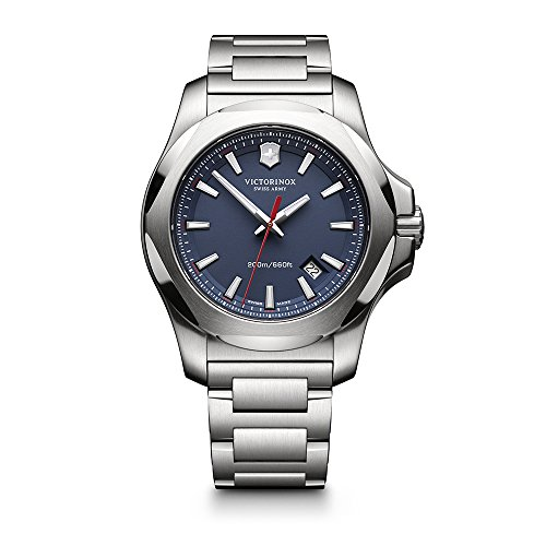 - Victorinox Swiss Army I.N.O.X. Stainless Steel Watch, 43mm, Blue