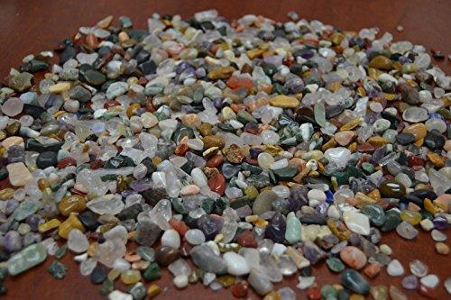 5000+ Pcs Bulk Assort Color Mix Gem Stone Rock Chips 6 Pound