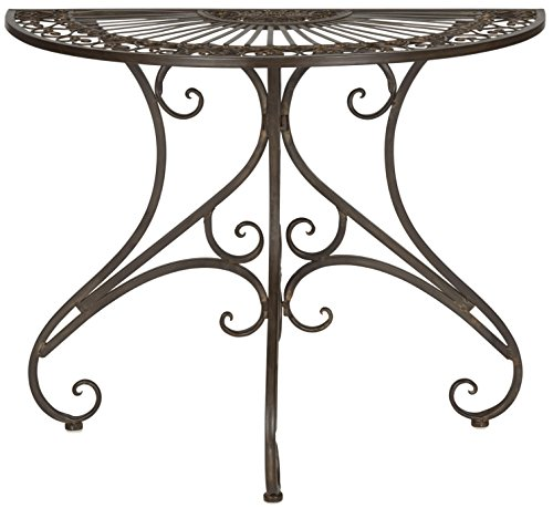 Safavieh Outdoor Collection Annalise Rustic Brown Accent Table