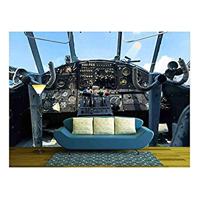 Top Quality Design, Grand Expertise, Vintage Airplane Dashboard Shallow Focus on leverers