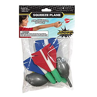 Stomp Rocket Squeeze Plane, 4 Foam Plane Toys for Boys and Girls - Outdoor Rocket Toy Gift for Ages 4 and Up: Toys & Games