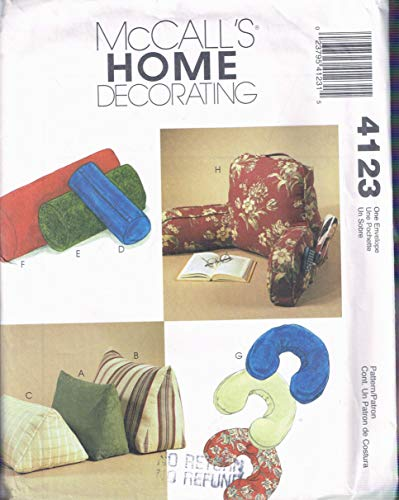 Bed Pillows - Back Rest Bed Pillow For Reading or Bolster Pillows Or Triangle Pillows Craft Sewing Pattern - McCalls 4123