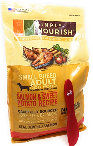 Simply Nourish Small Breed Sweet Potato and Salmon Dry Dog Food, Natural Ingredients - 5lbs and Especiales Cosas Spatula