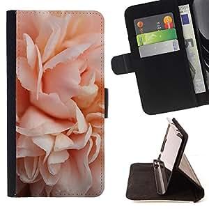ROSE BLOSSOM CLOSE UP LIGHT PINK/ Personalizada del estilo del dise???¡Ào de la PU Caso de encargo del cuero del tir????n del soporte d - Cao - For Samsung Galaxy A3