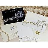 カーニバル招待状セット【印刷なし・手作りキット】 (ホワイト)