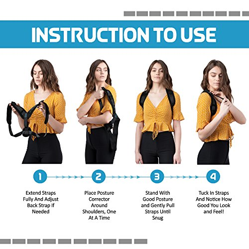 Comfortable Posture Corrector for Women or Men by Atlas | The Best Posture Brace for Women and Men | Easy to Wear | One Size Fits Most - Up to 50'' Chest | Carry Bag Included | Designed in USA by Atlas Industries (Image #7)
