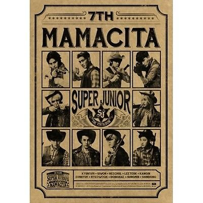 SUPER JUNIOR [MAMACITA] B VER. 7th Album CD PHOTOBOOK CARD POSTER K-POP Sealed
