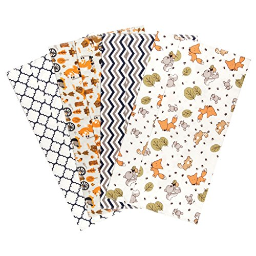 trend-lab-friendly-forest-4-deluxe-flannel-burp-cloths
