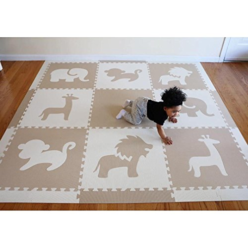 Softtiles Foam Children S Playmat Safari Animals Theme