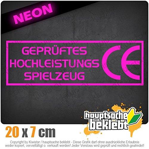 Chrom Neon Sticker Aufkleber Kiwistar CE Spielzeug 20 x 6,5 cm IN 15 Farben