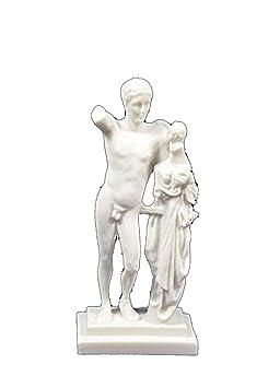 Estia Creations Sculpture Grecque Hermes Statue Eros Miniature 3qAjc5LR4